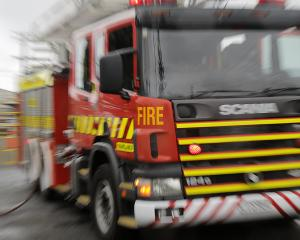 Firefighters are battling a blaze in Bluff. Photo: NZ Herald