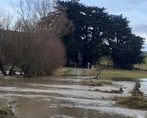 Flooding in the Gore district today. Photo: Gore District Council
