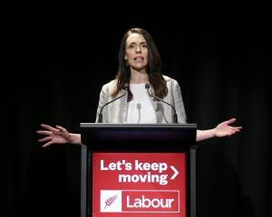Prime Minister Jacinda Ardern makes a speech at Labour Party Congress 2020 at at Te Papa Museum...