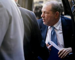 Film producer Harvey Weinstein arrives at the New York Criminal Court. Photo: Reuters