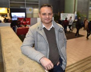 Green Party co-leader James Shaw mingled with students at the University of Otago's Clubs and...