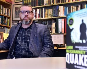 University of Otago professor Liam McIlvanney with a copy of his book The Quaker. PHOTO: PETER...