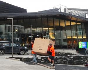 Final preparations are under way at Queenstown's Holiday Inn Express hotel. PHOTO: GUY WILLIAMS