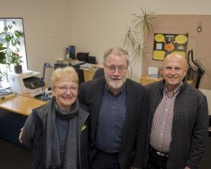 Chessa and Paul Mierzejewski (left and right) are grateful for their new office space, which was...