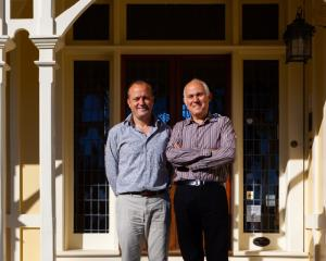 Welcome . . . Pen-y-bryn Lodge owners James Boussy (left) and James Glucksman are asking New...