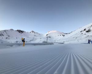 The Remarkables skifield had about 45cm of snow at its base over the weekend. PHOTO: NZSKI