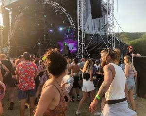 Revellers dance at the Rhythm and Alps music festival. Photo: Kerrie Waterworth