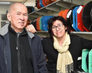 Har Chai Ng and Joyce Ng at their new Rubberland store at 193 Hanover St. PHOTO: GREGOR RICHARDSON