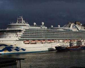 Ruby Princess visited Dunedin earlier this month. Photo: Twitter