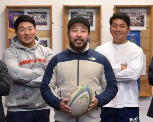 Japanese players (from left) Kei Kobayashi, Takamasa Havada, Kouya Hirao, Hiroaki Shitahama and...