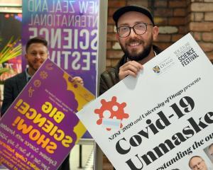 New Zealand International Science Festival director Dan Hendra (left) and marketing and...
