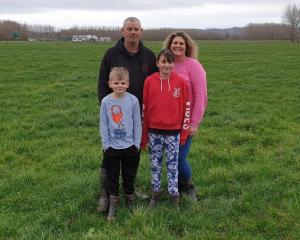 Inch Clutha farmers Donna and Brendon Weir, pictured with two of their three children, Zac (8)...