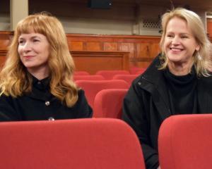 The New Zealand International Film Festival Dunedin publicist Dallas Synnott (left) and Regent...