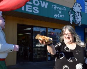 Pam Robertson, of Leith Valley, is pleased Marlow Pies is remaining open in central Dunedin....