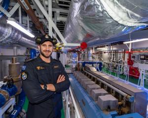 Royal New Zealand Navy Leading Marine Technician Oliver Redshaw is part of the inaugural crew of...