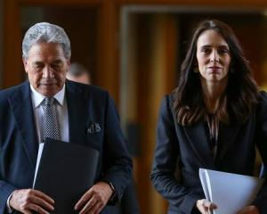 M Jacinda Ardern with NZ First leader Winston Peters on Budget Day. Photo: NZ Herald