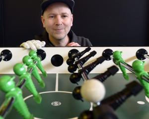 Paul Szyszka has started a foosball club in Dunedin. PHOTO: PETER MCINTOSH