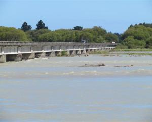 The Waitaki River at Waitaki Bridge. Photo by ODT.