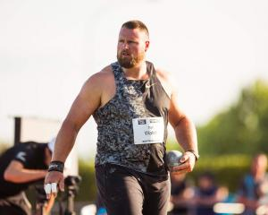 Shot putter Tom Walsh competes at the Potts Classic in Hastings earlier this year. PHOTO: SUPPLIED