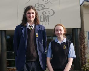 Taieri College pupils Liam Boyne and Keira Wallace were first and second respectively in the...
