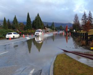 A familiar sight for drivers along Wanaka's Aubrey Rd but not for much longer, it is hoped....