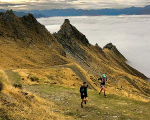 ActiveQT event course team members Hywel Dinnick and Laura Wallis, of Queenstown, on the new Mt...