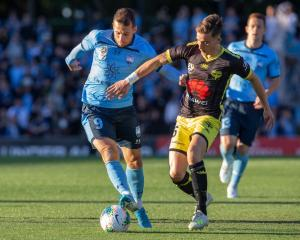 The Wellington Phoenix and Sydney FC will play tomorrow night to restart the A League. Photo:...
