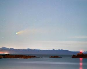 Comet Neowise was captured in the north-west past Mt Maunganui this week. Photo: Amit Kamble