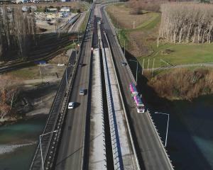 "Motorists are warned to expect ""significant delays"" when crossing the Waimakariri Bridge. Photo:..."