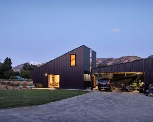 This boldly shaped Hawea Flat home was designed by Rafe Maclean Architects for a young couple...