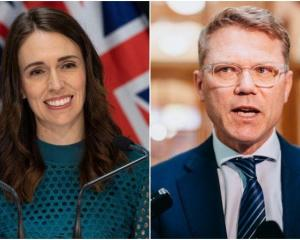 Prime Minister Jacinda Ardern and National's finance spokesperson Paul Goldsmith. Photo: RNZ