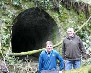 Clutha Gold Trail Charitable Trust chairman Murray Paterson (right) and trustee Symon Howard are...