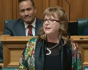 Labour MP for Dunedin South Clare Curran gives her speech.