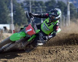 Courtney Duncan, racing at home, won all of her races at the Cromwell MotoX last month. PHOTO:...