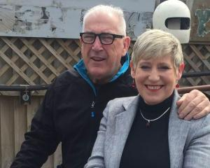 Lianne Dalziel with her late husband Rob Davidson. Photo: RNZ