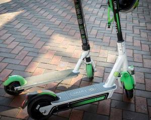 The new Generation 3 Lime e-scooter (foreground) side-by-side with the G2.5. Photo: Michael Craig