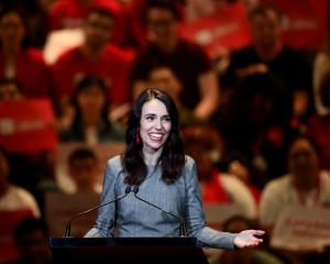 Prime Minister Jacinda Ardern speaks at the Labour Party 2020 election campaign launch in...