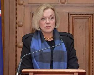 National leader Judith Collins calls for the election to be delayed Photo: RNZ
