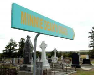 A sign points the way to Winton's famous grave.PHOTO: GERARD O'BRIEN