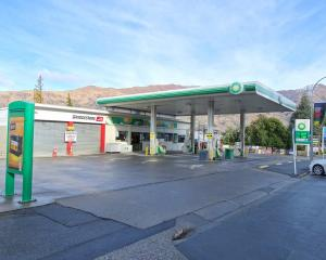 All quiet on the front at the Wanaka BP service station in Ardmore St yesterday, on its last day...