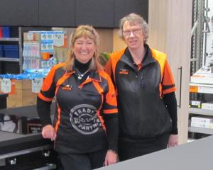 Oamaru Mitre 10 Mega kitchen designer Linda Smith (left) and store manager Nicky Kofoed in one of...