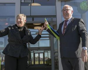 Christchurch Mayor Lianne Dalziel with her husband Rob Davidson.  Photo: Newsline CCC