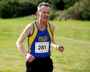 Robbie Johnston of Otago in action during the Athletics New Zealand Cross Country Challenge at...
