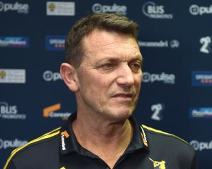 Highlanders chief executive Roger Clark speaks at a press conbference in Dunedin yesterday. PHOTO...