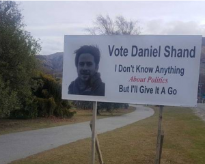 Daniel Shand is asking for people's votes, saying he'd 'probably make a pretty good MP'. Photo:...