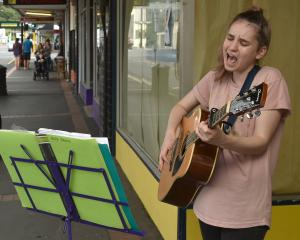 Kaikorai Valley College pupil Holly Davies (16) sings for her supper. Photos: Gregor Richardson