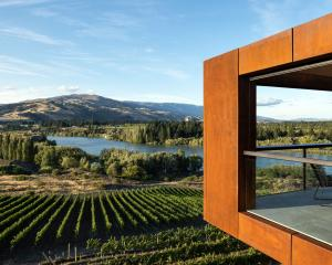 The Te Kano Estate tasting room at Bannockburn by Mason and Wales Architects. PHOTO: SIMON DEVITT