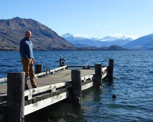 Tim Barke on his first day as Lake Wanaka Tourism acting general manager helping Wanaka tourist...