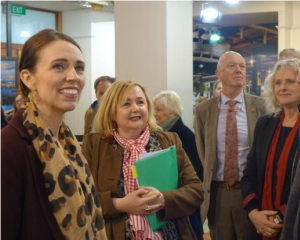 Jacinda Ardern has been in Invercargill today on the campaign trail. Photo: RNZ