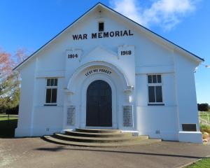 The Mt Somers War Memorial Hall. Photo: Supplied